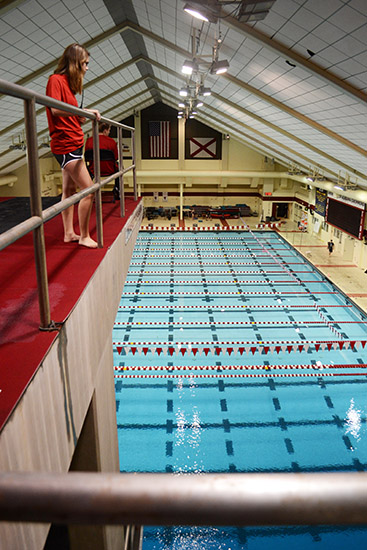 Aquatic Center-Diving Deck from the top